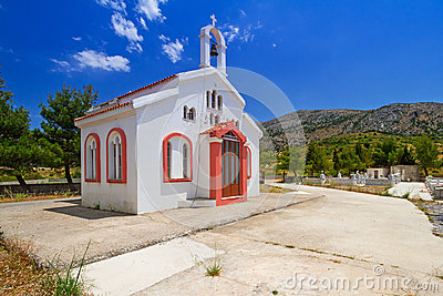 Small traditional church on Crete