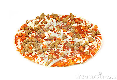 Small uncooked pizza