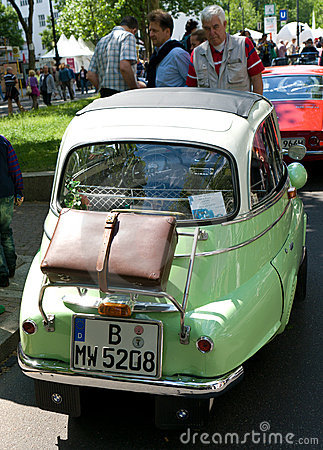 A small vehicle BMW Isetta 250 Editorial Photo