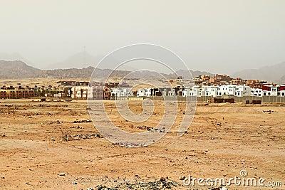 Small village in Sinai mountains