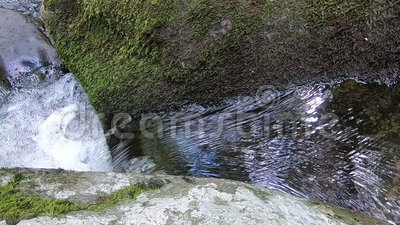 Small waterfall from above close-up - Hazel River Shenandoah Virginia. In 1080p stock footage