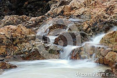 Small Waterfall at Beach