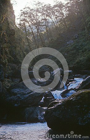 1975. Nepal. Landscape near Khangjung. Editorial Stock Image