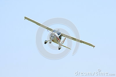 Small white airplane Editorial Photography