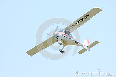 Small white airplane Editorial Image