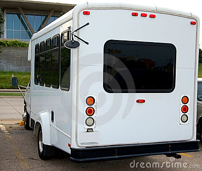 Small white bus