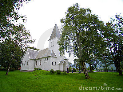 Small white chapel
