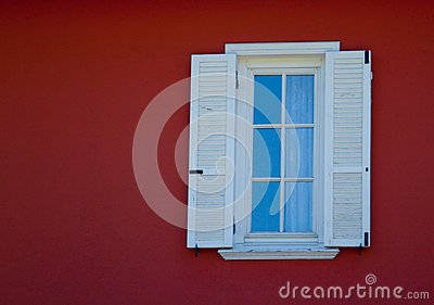 Small white framed window