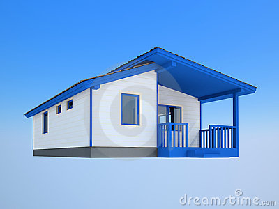 Small white house
