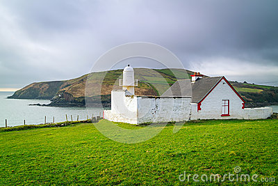 Small white lighthouse