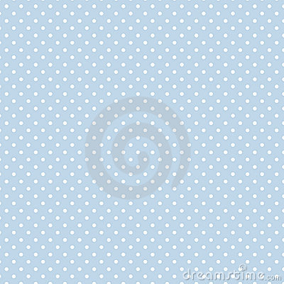 Small White Polka dots on Pastel Blue