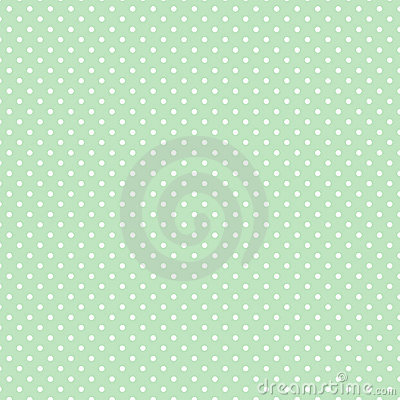 Small White Polka dots on Pastel Green