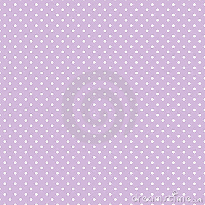 Small White Polka dots on Pastel Lavender