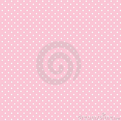 Small White Polka dots on Pastel Pink