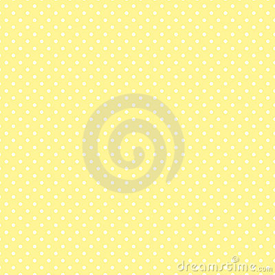 Small White Polka dots on Pastel Yellow