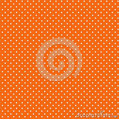 Free Small White Polkadots, Orange Background, Seamless Background Royalty Free Stock Photo - 5658885