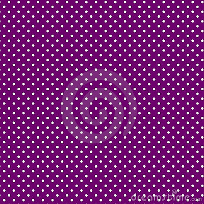 Small White Polkadots, Purple Background