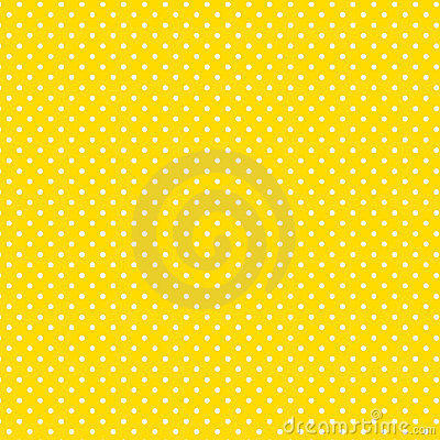 Small White Polkadots, Yellow Background