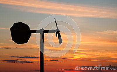 Small windmill style weather vane silhouette