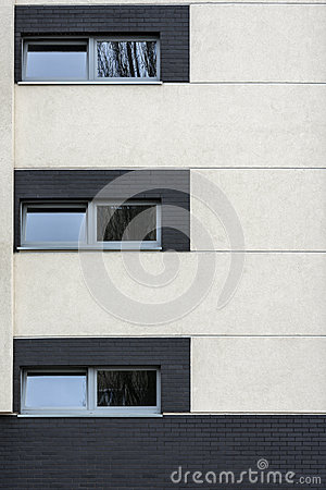 Small windows in multi family house exterior