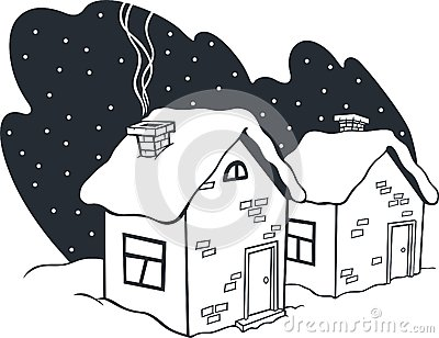 Small winter houses