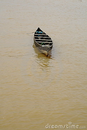 A small wooden boat