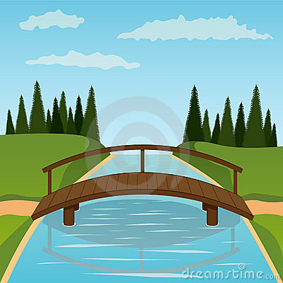 Free Small Wooden Bridge Stock Photography - 19274502