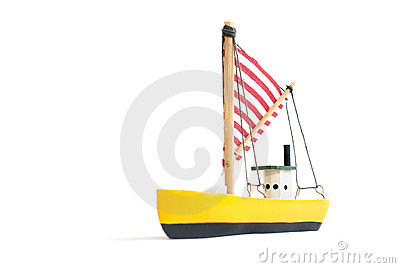 Small wooden sailing ship