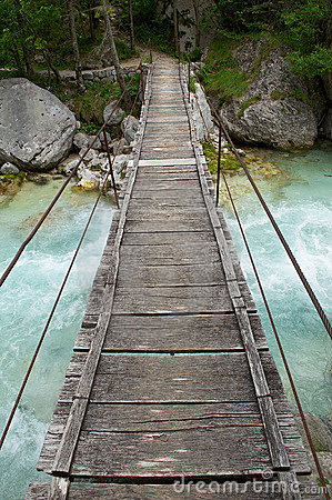 Free Small Wooden,suspension Bridge Royalty Free Stock Photo - 16716775