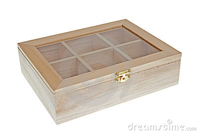 Small Wooden tea box closed