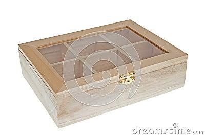 Small Wooden tea box closed