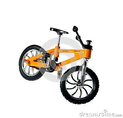 Small yellow metal bicycle, souvenir