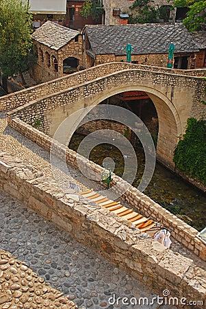 Smaller Mostar Bridge called Kriva Cuprija over Rabobolja Creek