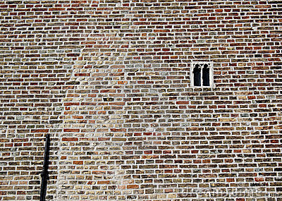 The smallest gothic window in Bruges