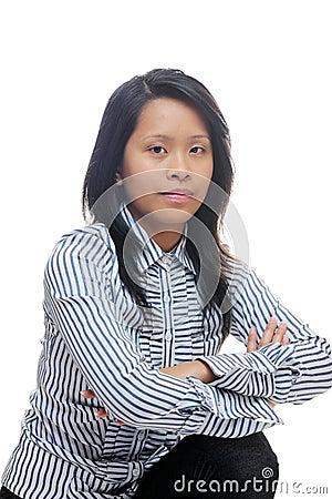 Smart asian lady