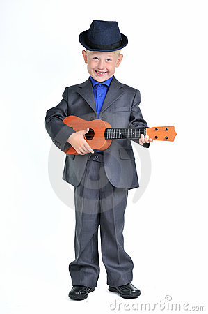 Smart Boy with Guitar