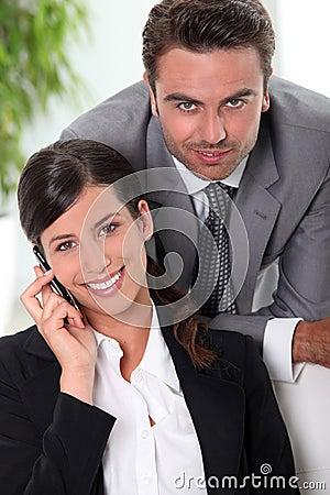 Smart business couple
