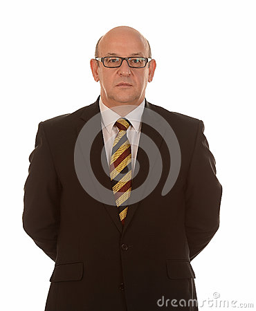 Smart businessman with glasses