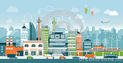 Smart city Vector Illustration