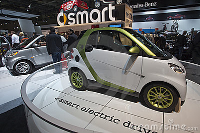 Smart electric drive car at the 2010 CIAA Editorial Stock Image