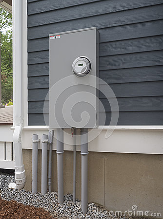 Free Smart Electric Utility Meter And Panel Stock Image - 41897271