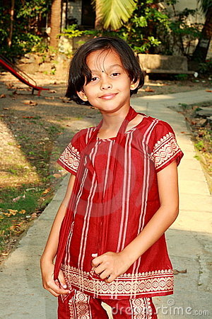 Smart and expressive Indian girl