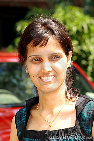 Smart face of an Indian girl