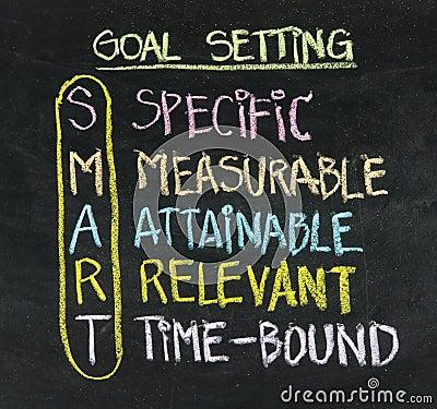 Free Smart Goal Setting Concept Royalty Free Stock Photos - 27909408