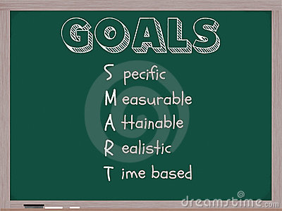 Smart Goals Blackboard