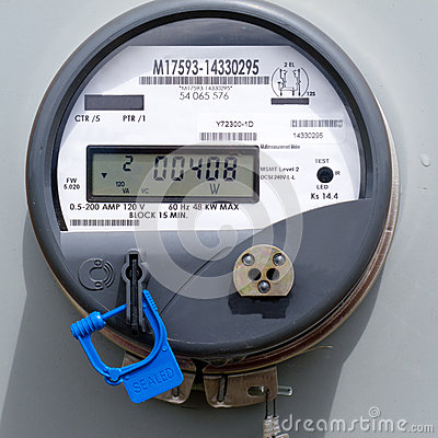 Free Smart Grid Residential Digital Power Supply Meter Stock Images - 25260414