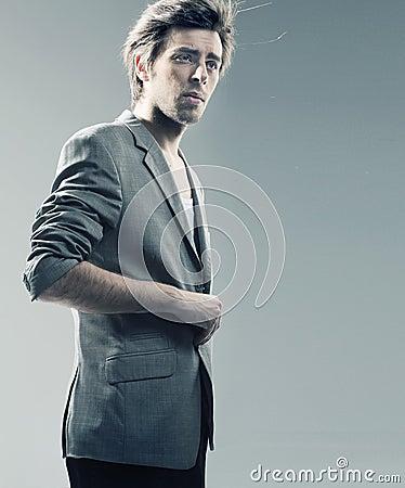 Smart guy wearing stylish jacket