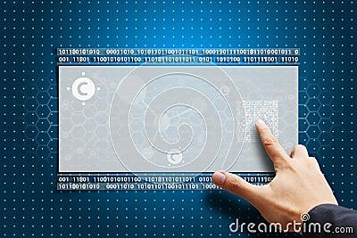 Smart hand press on carbon nano tube LCD