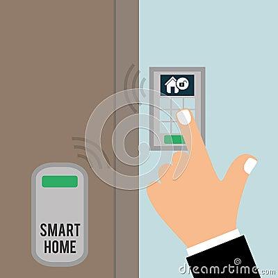 Smart Home Design Illustration Eps10 Graphic