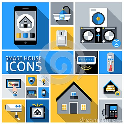 Free Smart House Icons Stock Image - 52108361